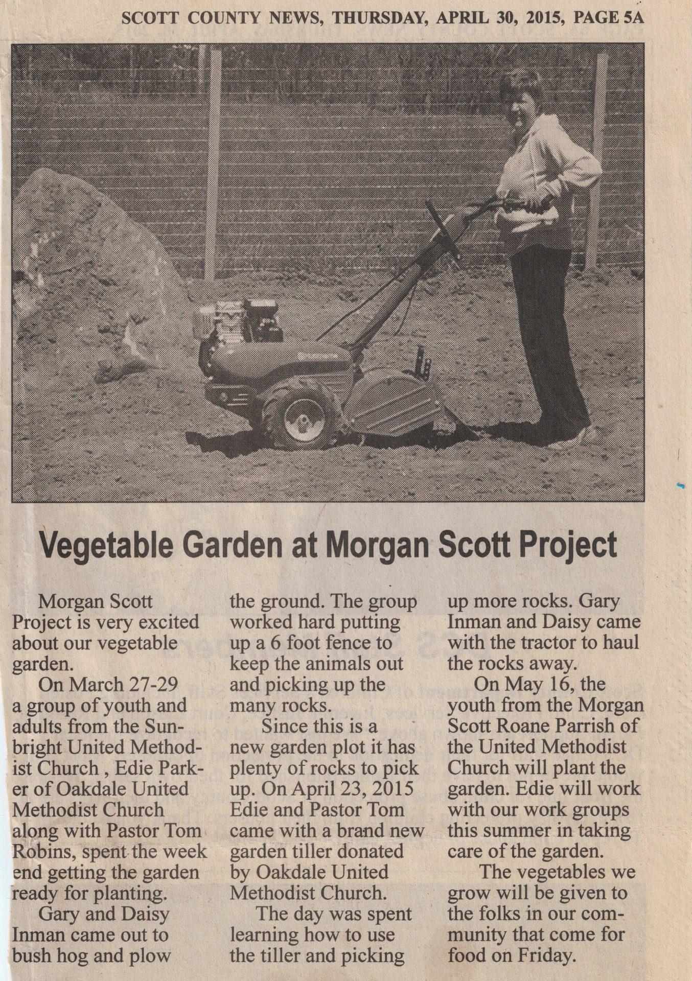 MSP in the news    > Morgan Scott ProjectMorgan Scott Project